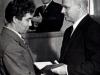 Проректор Н.П.  Гончар вручает диплом Евсееву Г.И